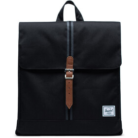 Herschel City Mid-Volume Zaino 14l, black/black/tan